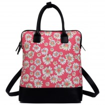 L1523DS - Miss Lulu Large Daisy Backpack Shoulder Bag Red