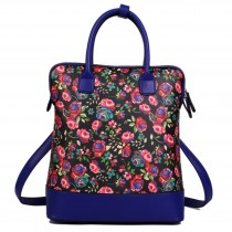 L1523NF - Miss Lulu Large Flower Backpack Shoulder Bag Black