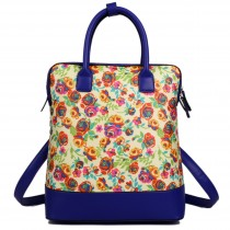 L1523NF - Miss Lulu Large Flower Backpack Shoulder Bag Yellow