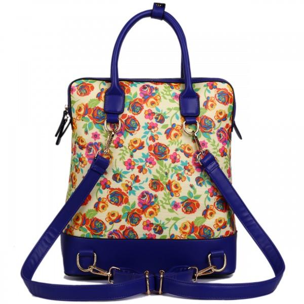 L1523NF - Miss Lulu Large Flower Backpack Shoulder Bag Yellow