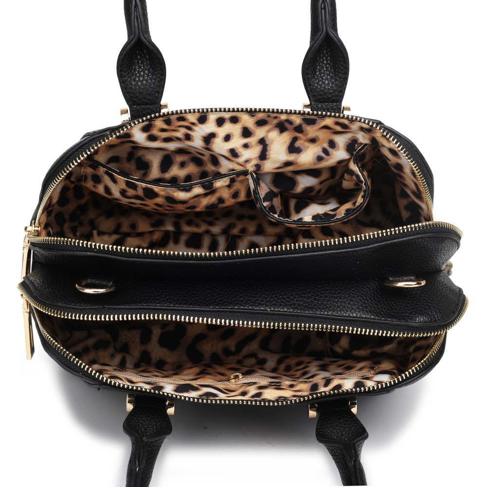 LF1627 - Miss Lulu Faux Leather Two Compartment Shoulder ...