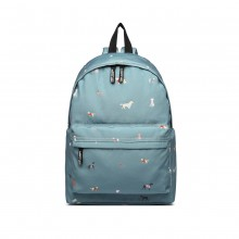 LB1927 - MISS LULU 'DOGS IN JUMPERS' BACKPACK - BLUE