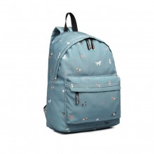 LB1927-MISS LULU 'DOGS IN JUMPERS' RUCKSACK BLAU
