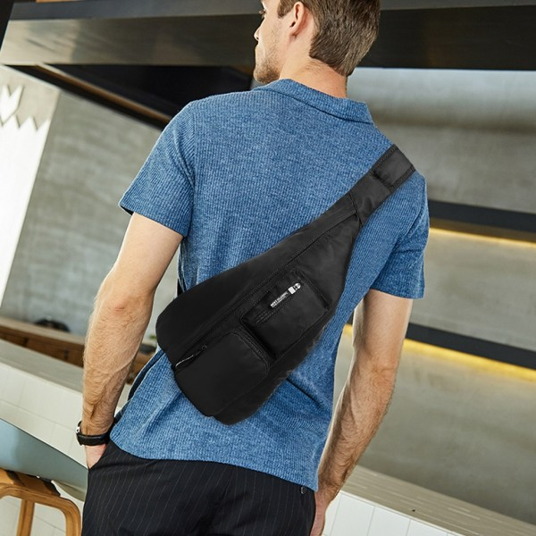 LB1934 - KONO CASUAL SINGLE STRAP SLING BACKPACK - BLACK