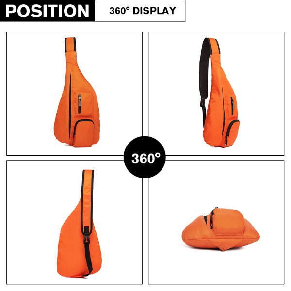 LB1934 - Miss Lulu Casual Single Strap Sling Backpack - Orange