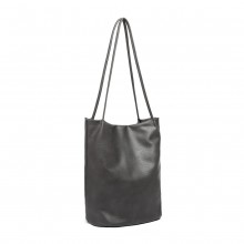LB1951 - MISS LULU LARGE BUCKET SHOULDER BAG - DARK GREY