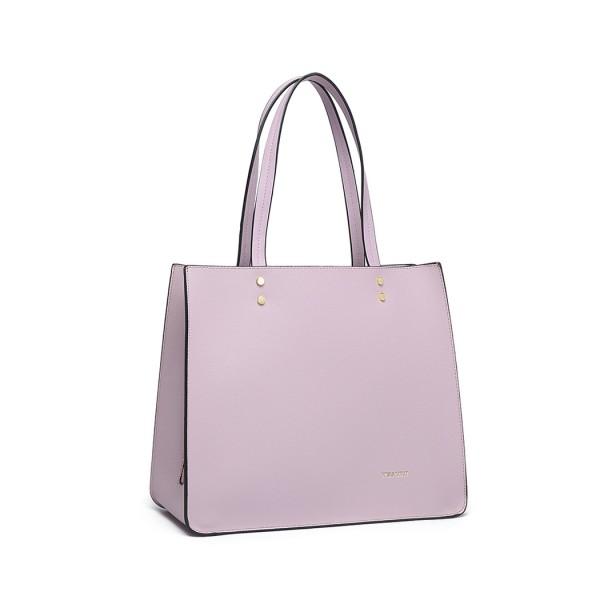 LB1969 - Miss Lulu 2 Piece Handbag and Cross Body Bag Set - Pink