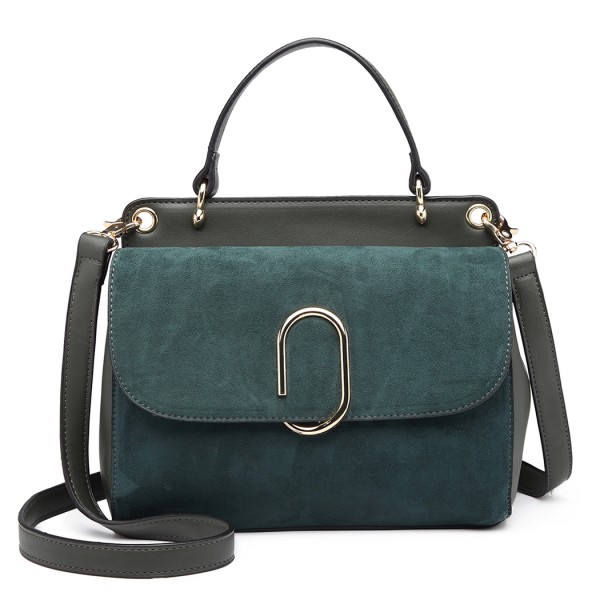 LB6871-MISS LULU STYLISH LADIES LEATHER HANDBAG SHOULDER BAG GREEN