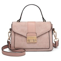 LB6872- Panna Lulu Matte Skóra Midi torba- różowa