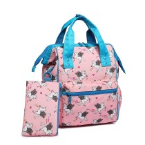 LB6896 --Miss Lulu Child's Unicorn Backpack with Pencil Case --Pink