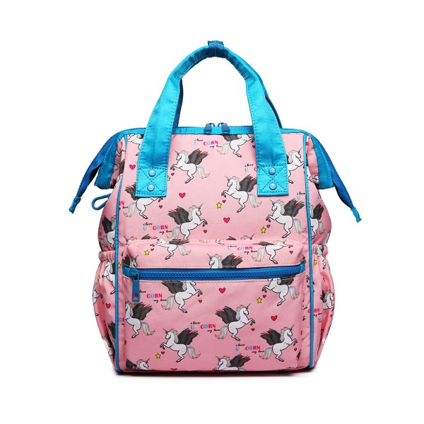 LB6896 - Miss Lulu Child's Unicorn Backpack with Pencil Case - Pink