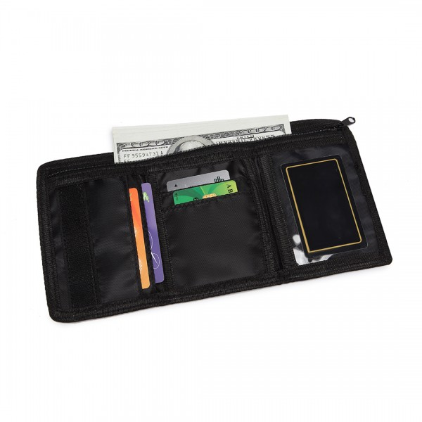 LB6897 - Miss Lulu Child's Tri-fold Wallet - Black