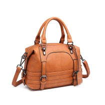LB6902 --Miss Lulu Leather Look Shoulder Bag --Brown