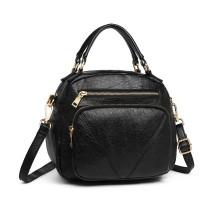 LB6907 - Miss Lulu Estilo bombín Bolsa de hombro - negro