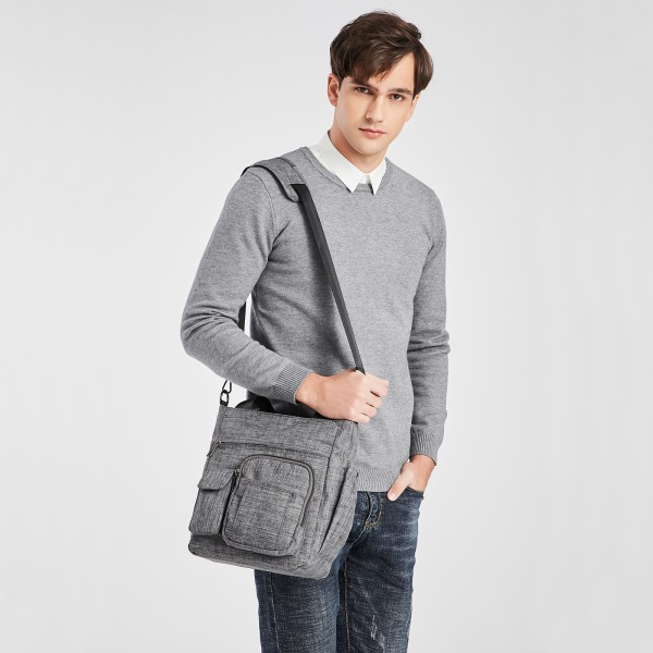 LB6923 - Kono Multi-Compartment Tote Shoulder Bag - Grey