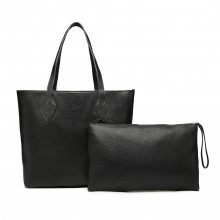 LD6825-MISS LULU LATTICE LEATHER 2PCS SET TOTE SAC À MAIN AVEC POCHE OR