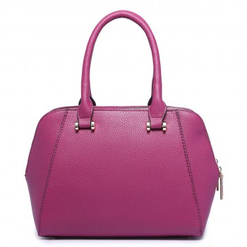 LF1627 - Miss Lulu Faux Leather Two Compartment Shoulder Bag purple