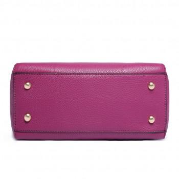 LF1627 - Miss Lulu Faux Leather Two Compartment Shoulder Bag purple
