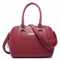 LF1627 - Miss Lulu Faux Leather Two Compartment Shoulder Bag red