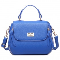 LF1676- Miss Lulu Expandable Zipped Cross Body Shoulder Bags blue