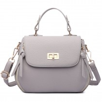 LF1676- Miss Lulu Expandable Zipped Cross Body Shoulder Bags gray