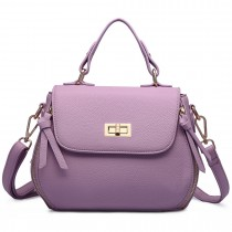 LF1676- Miss Lulu Expandable Zipped Cross Body Shoulder Bags purple
