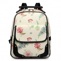 LG1649 - Miss Lulu Adorable Printed Matte Oilcloth Backpack Green