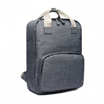 LG1807-Retro Backpack School Bag Travel Rucksack Laptop Bag Grey