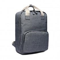 LG1807-Retro mochila escolar mochila de viaje mochila portátil gris