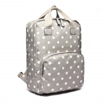LG1807D2-Polka Dots Retro Backpack School Bag Mochila de viaje Laptop Bag Grey