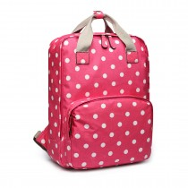 LG1807D2-Polka Dots Retro Backpack School Bag Travel Mochila Laptop Bag Plum