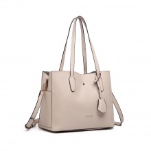 LG1902-MISS LULU TRIPLE COMPARTEMENT SAC BEIGE