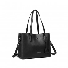 LG1902-MISS LULU TRIPLE COMPARTEMENT SAC NOIR