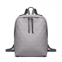 LG1904-MISS LULU PRISM PATRÓN DE PIEL LOOK BACKPACK GRIS