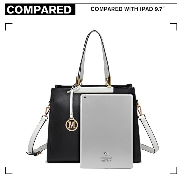 LG1907 - MISS LULU CLASSIC SIMPLE SHOULDER BAG - BLACK