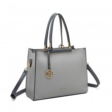 LG1907 - MISS LULU CLASSIC SIMPLE SHOULDER BAG - GREY