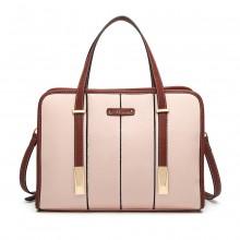 LG1949 - Umhängetasche Miss Lulu Structured Panel - Pink