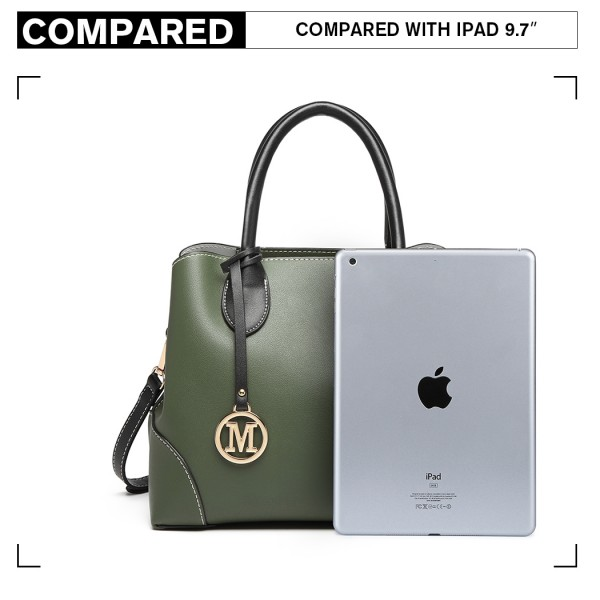 LG1973 - Miss Lulu Pu Leather Shoulder Bag - Green