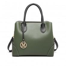 LG1973 - Miss Lulu Pu Leather Shoulder Bag - Green