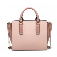 LG1975 - Sac à main en cuir Miss Lulu Button Wing - Rose