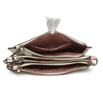 LG6803-MISS LULU CANVAS WITH POMPOM PENDANT HANDBAG SHOULDER BAG BEIGE