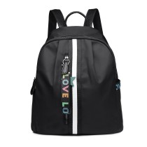 LG6830 - MISS LULU WATERPROOF NYLON BACKPACK SCHOOL BAG - BLACK