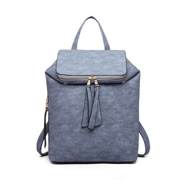 LG6903 - Miss Lulu Expandable Fashion Backpack - Blue