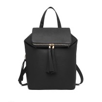 LG6903 - Miss Lulu Expedible Fashion Backpack - Black