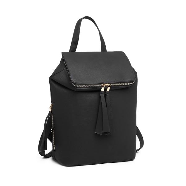 LG6903 - Miss Lulu Expandable Fashion Backpack - Black