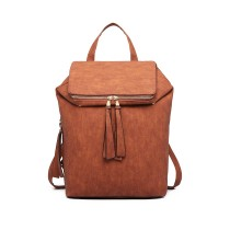 LG6903 - Miss Lulu Expedible Fashion Backpack- Brown