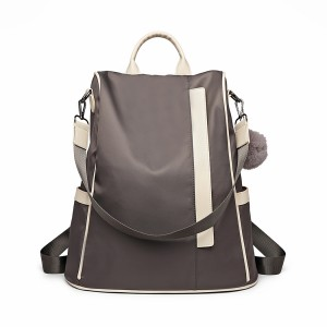 LG6917- Panna Lulu Two Way Anty-Theft Backpack z Pom Pom Pendant - Grey