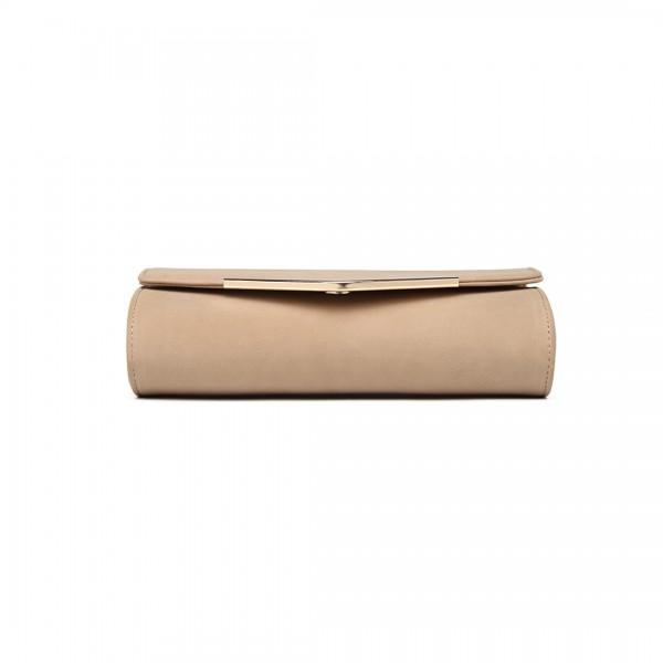 LH1756 - Miss Lulu Lederoptik Briefumschlag Unterarmtasche - Beige