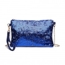 LH1765 NY- Miss Lulu Sequins Clutch Evening Bag Navy