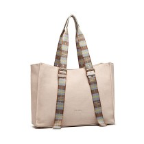 LH1924- miss LULU PLAID TARTAN STRAP SHULDER BAG- PINK